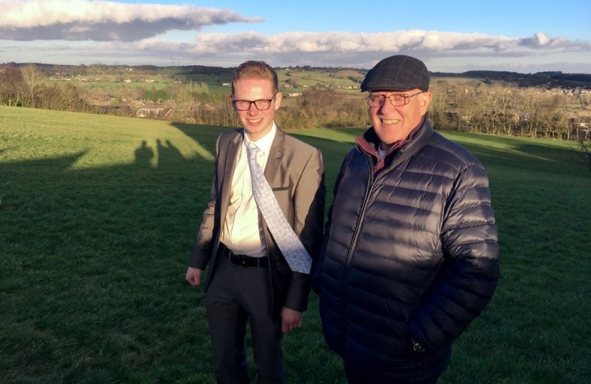 Jack and Cllr Ross Irving on green space, Weston Coyney