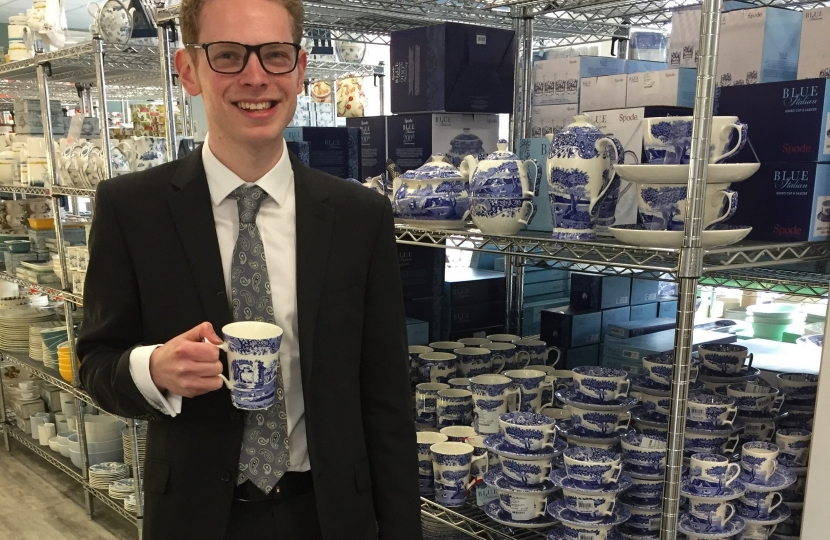 Jack with Portmeirion mug
