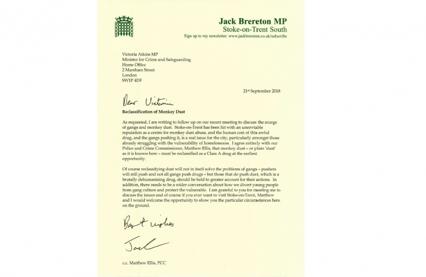 Letter to Victoria Atkins