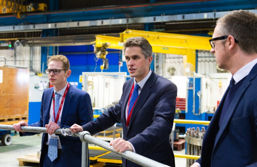 Jack Brereton MP and Gavin Williamson MP at Goodwin International - 1