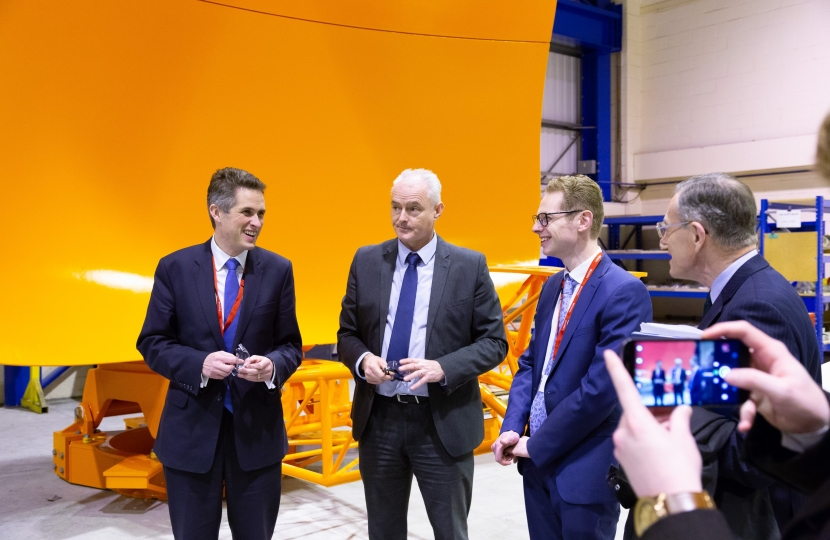 Jack Brereton MP and Gavin Williamson MP at Goodwin International - 4