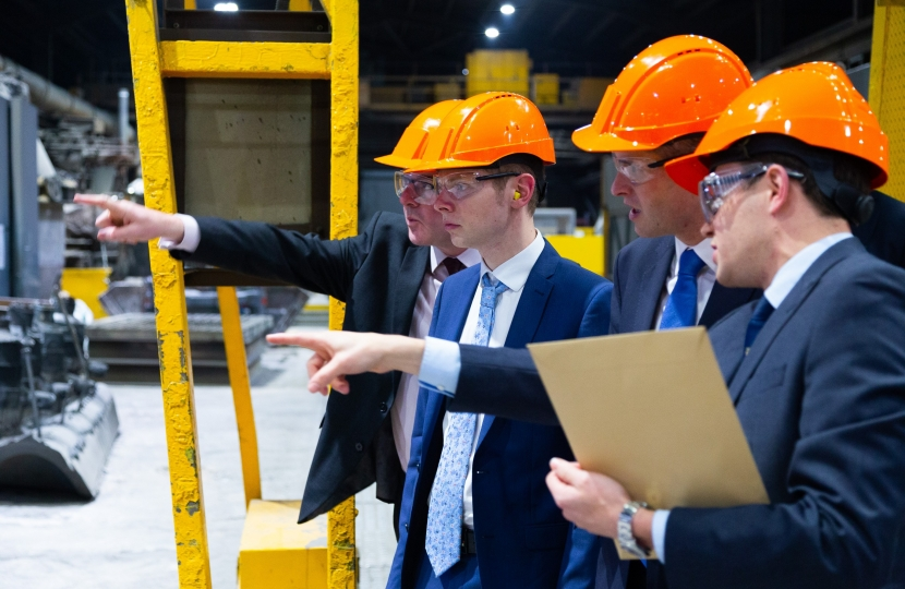 Jack Brereton MP and Gavin Williamson MP at Goodwin International - 5