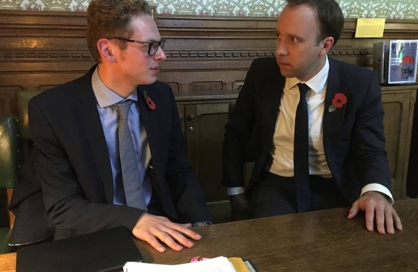 Jack Brereton MP with Matt Hancock
