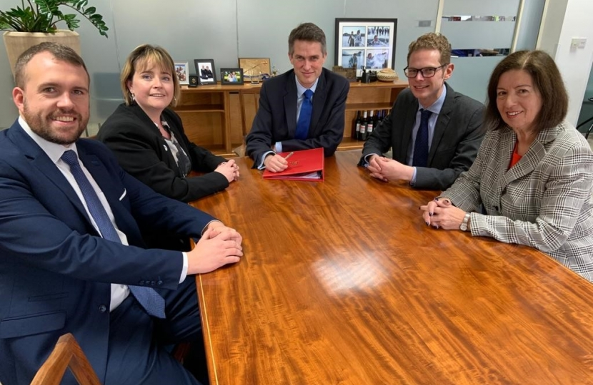 Stoke MPs with the Education Secretary