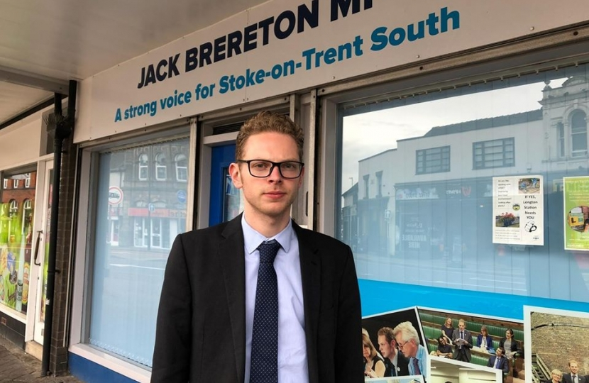 Jack Brereton in front of shop in Longton