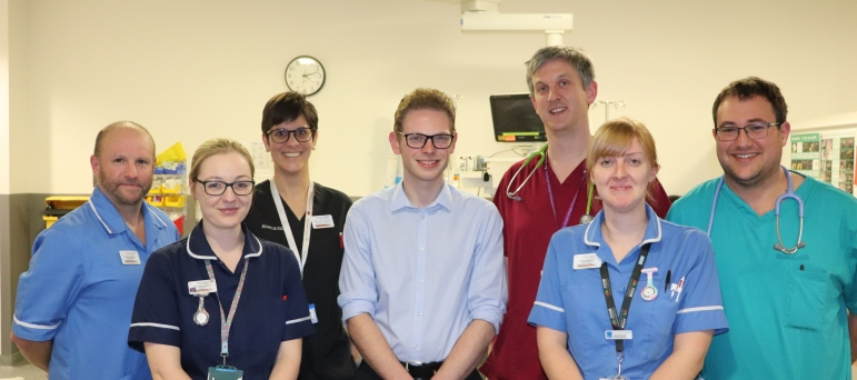 Jack at the Royal Stoke University Hospital
